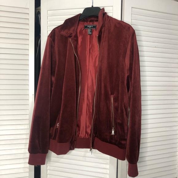 a44140500 Forever 21 men velvet jacket